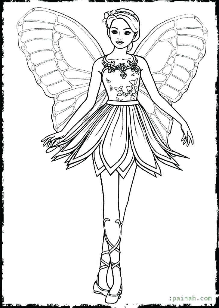 728x1024 Fairy Wings Colouring Pages Barbie Coloring Wing Fashion Colour