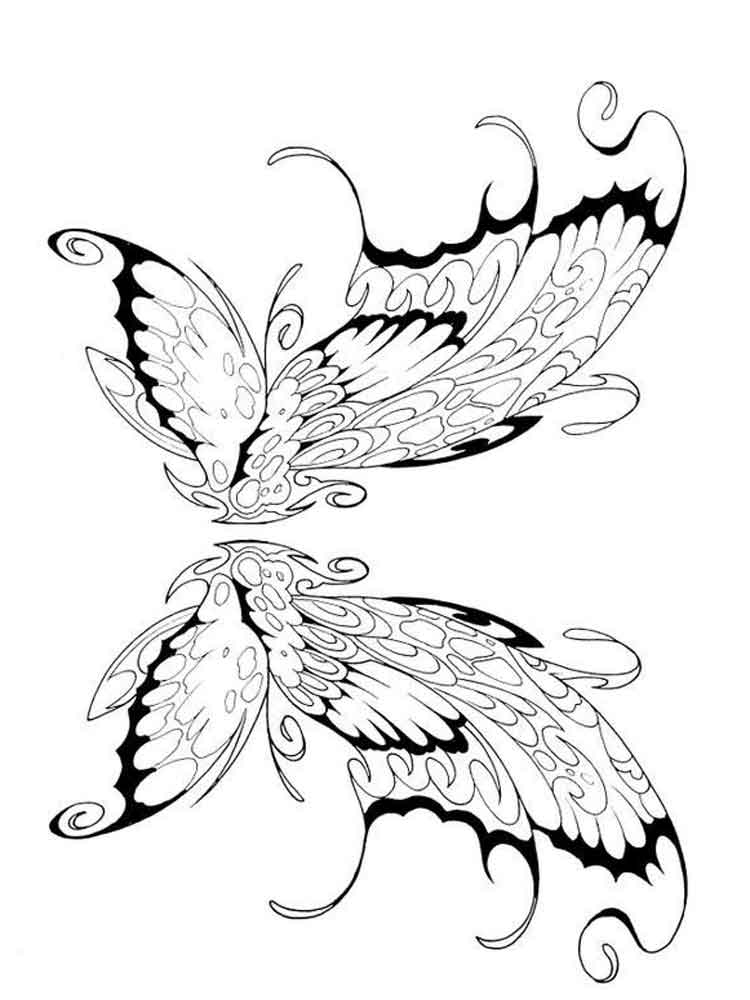 750x1000 Fairy Wings Coloring Pages Free Printable Fairy Wings Coloring Pages