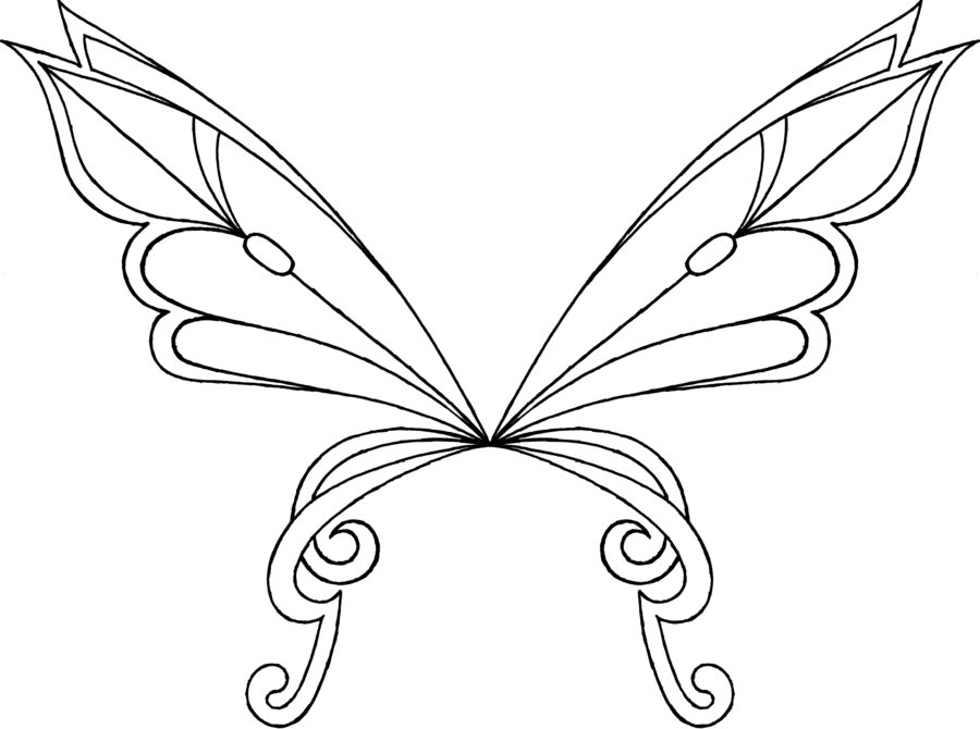 900x670 Fairy Wing Coloring Pages Download And Print For Free