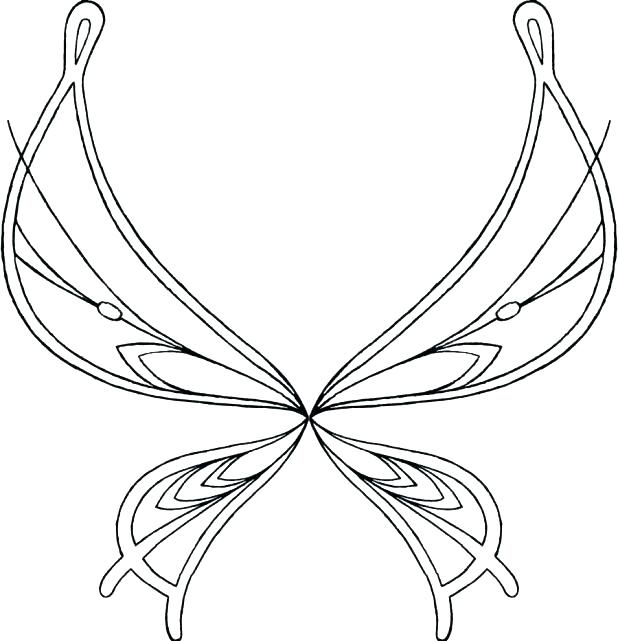 photograph regarding Free Printable Fairy Wings named Fairy Wings Coloring Web pages at  Totally free for