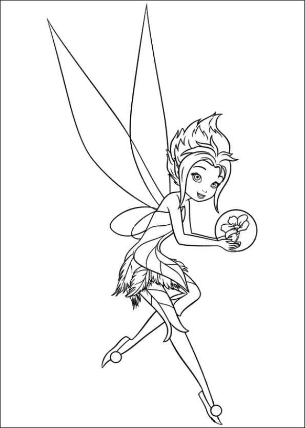 595x834 Coloring Page Tinkerbell Secret Of The Wings