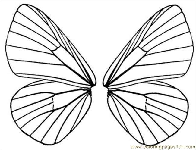 650x498 Fairy Wings To Color Free Printable Coloring Page Butterfly