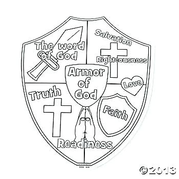 350x350 Faith Coloring Pages Shield Faith Coloring Page Faith Shield