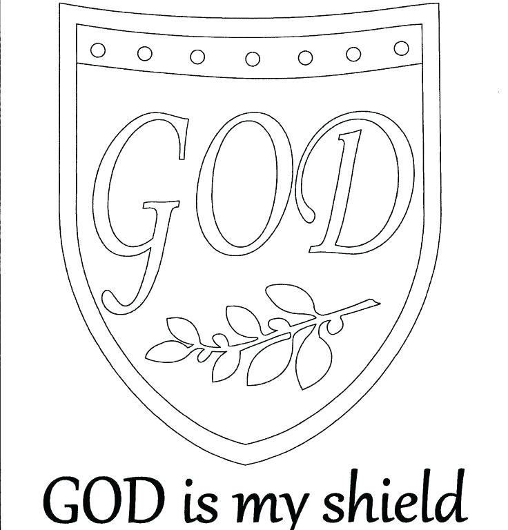 736x768 God Is My Shield Coloring Page Shield Of Faith Coloring Page