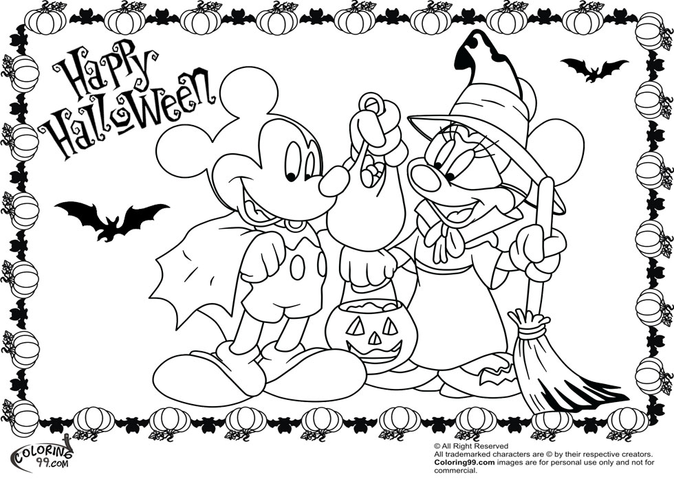 980x700 Princess Halloween Coloring Pages