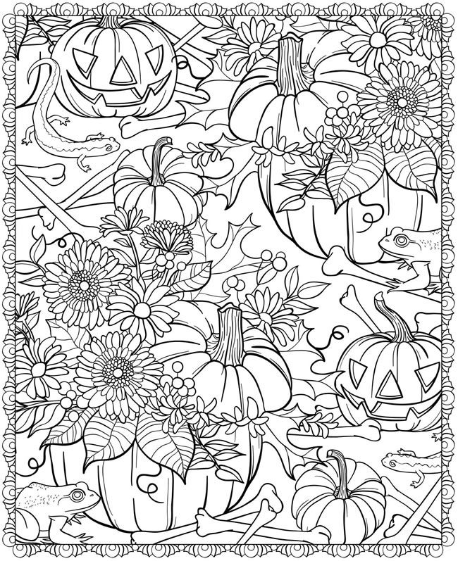 650x797 Detailed Halloween Coloring Pages Free Printable Halloween