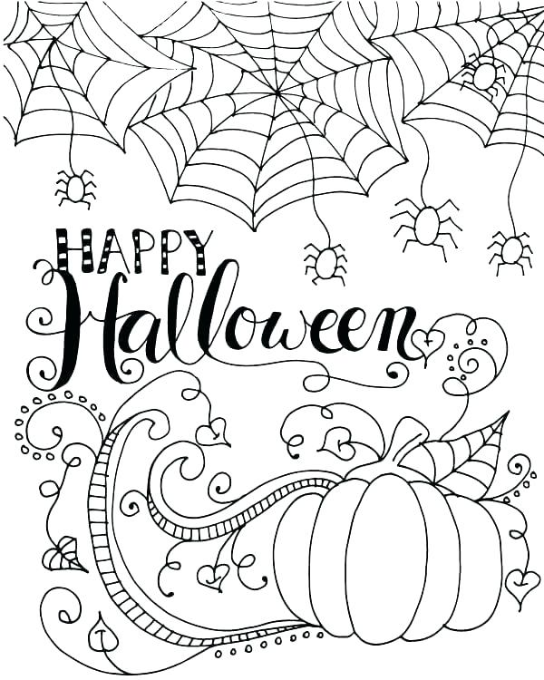 600x750 Cool Halloween Coloring Pages Scary Coloring Pages Best Coloring