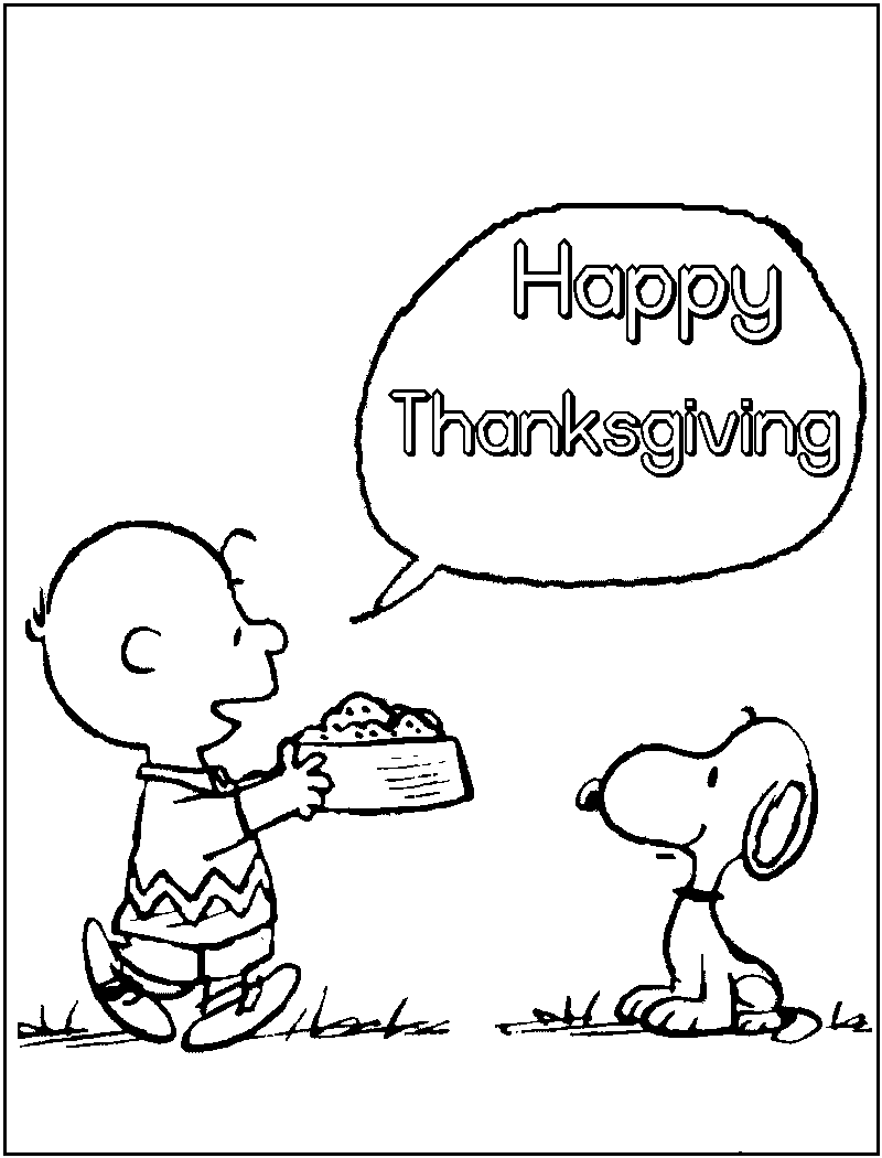 800x1050 Charlie Brown Thanksgiving Coloring Pages
