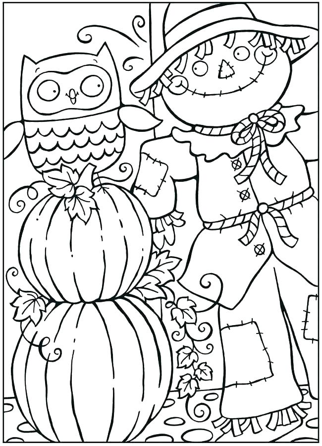 650x900 Free Fall Coloring Pages Fall Coloring Pages For Kids Coloring