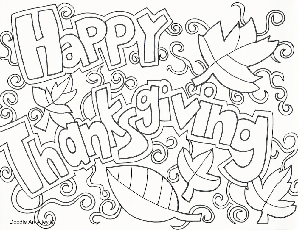 1000x773 Happy Thanksgiving Coloring Page