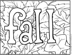 236x182 Kids Fall Coloring Pages