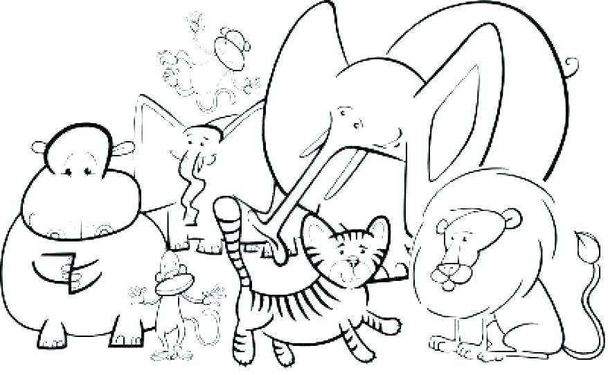 878x542 Kinder Coloring Pages Free Preschool Coloring Pages Printable Zoo