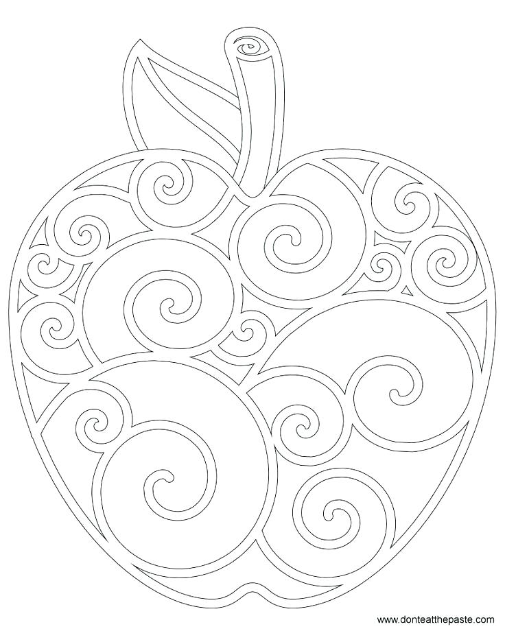 736x920 Apple Coloring Sheet Coloring Apples Pictures Of Apples For Kids