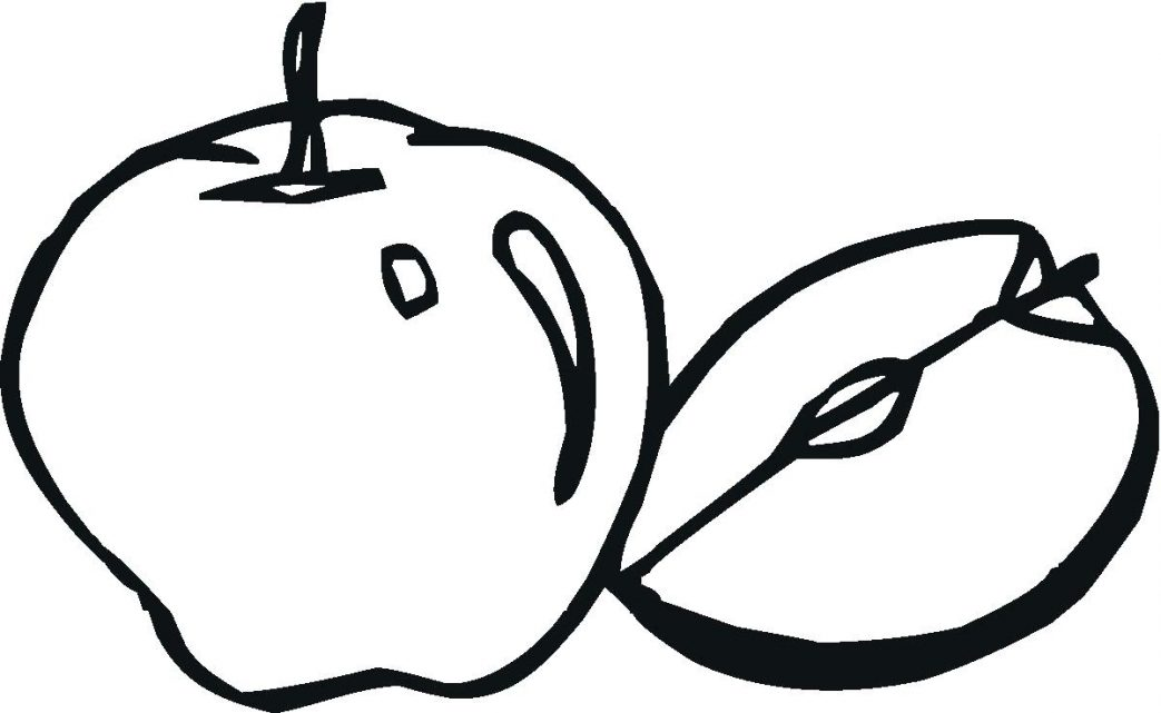 1043x641 Fall Apples Coloring Pages Free Printable Apple For Kids Page