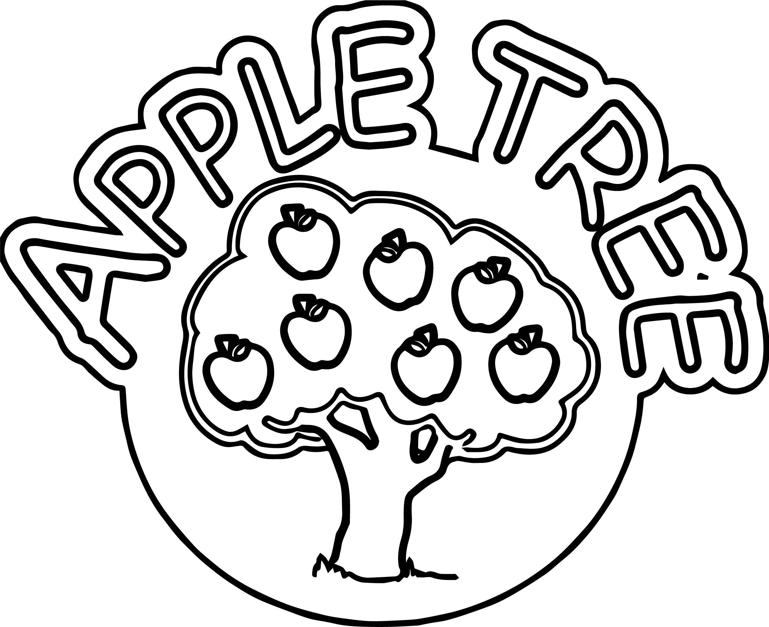 2517x2052 New Trees Leaves Apples Fall Apple Tree Coloring Pages For Kids