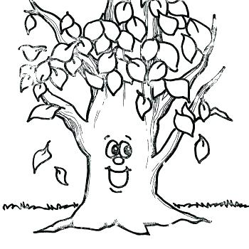 350x350 Apple Tree Coloring Page