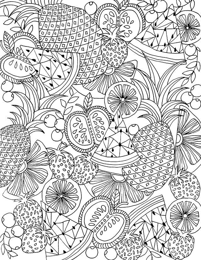 640x828 Apple Coloring Pages For Adults