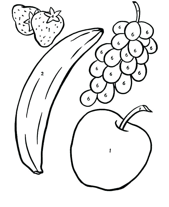 670x820 Apple Coloring Pages Three Apple Colouring Page Fruit Coloring