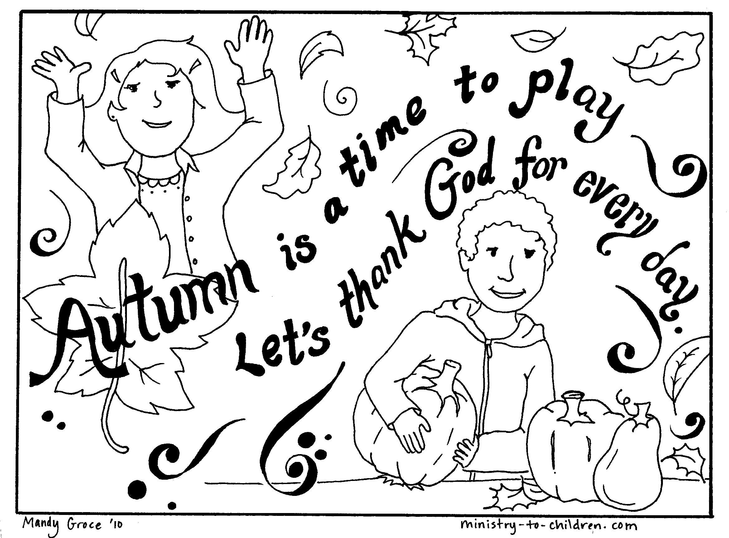 2338x1725 Fall Coloring Page Mops Sunday School, School
