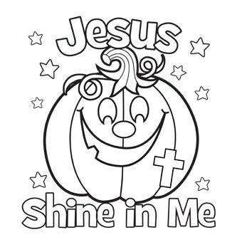 340x340 Jesus Shine In Me Coloring Picture For Halloween Church