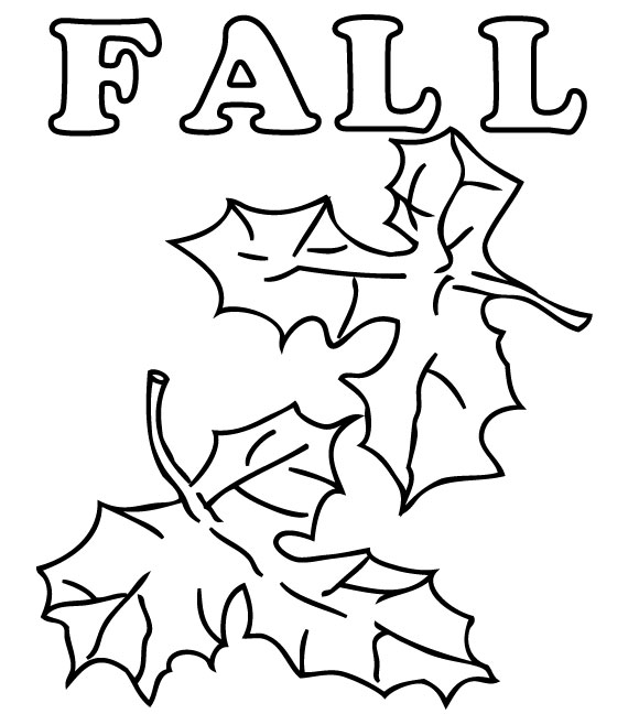 580x648 Kids Fall Coloring Pages