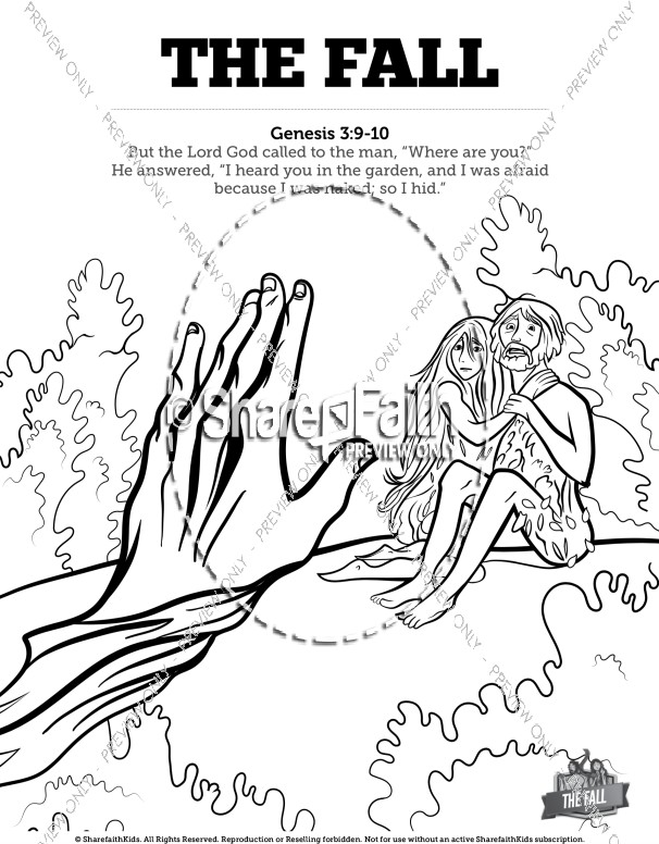 606x776 The Fall Of Man Genesis Bible Coloring Pages Sunday School