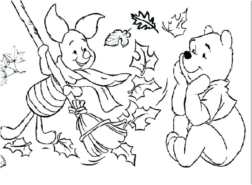 827x609 Fall Coloring Pages For Preschoolers