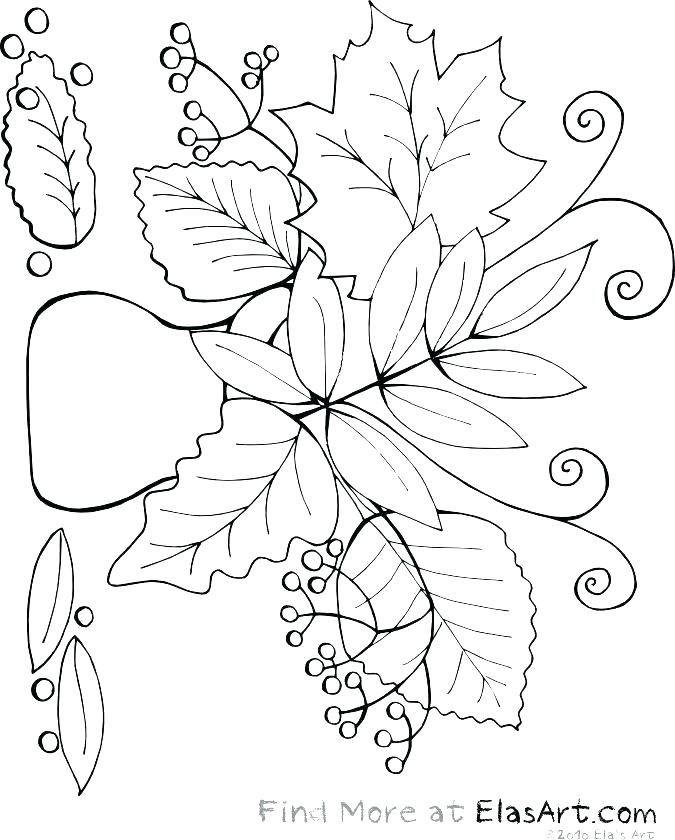 675x840 Fall Leaves Coloring Pages For Kindergarten