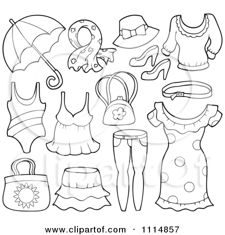 450x470 Spring Clothes Coloring Pages