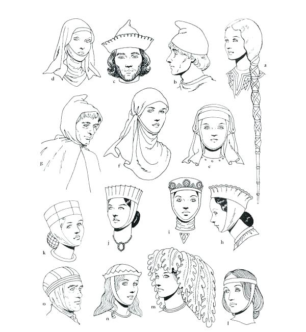 600x651 Summer Clothes Coloring Pages Middle Ages Clothing Coloring Page