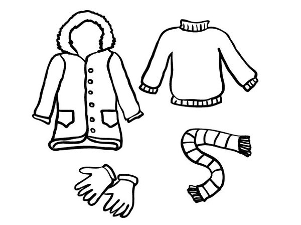 600x448 Winter Clothes Coloring Pages