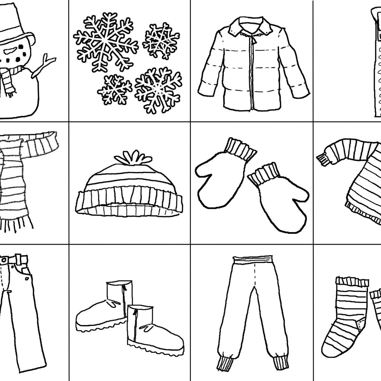 1224x1224 Winter Sports Colorings Printable Coloring Pages About General