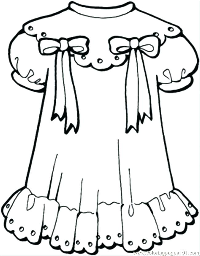 650x830 Clothing Coloring Page