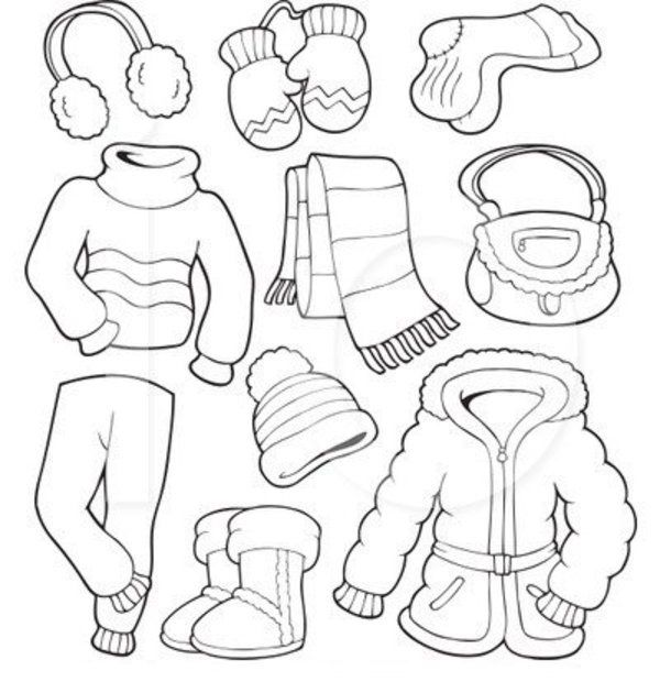 600x630 Winter Clothes Coloring Page Free For Kids Coloring Other