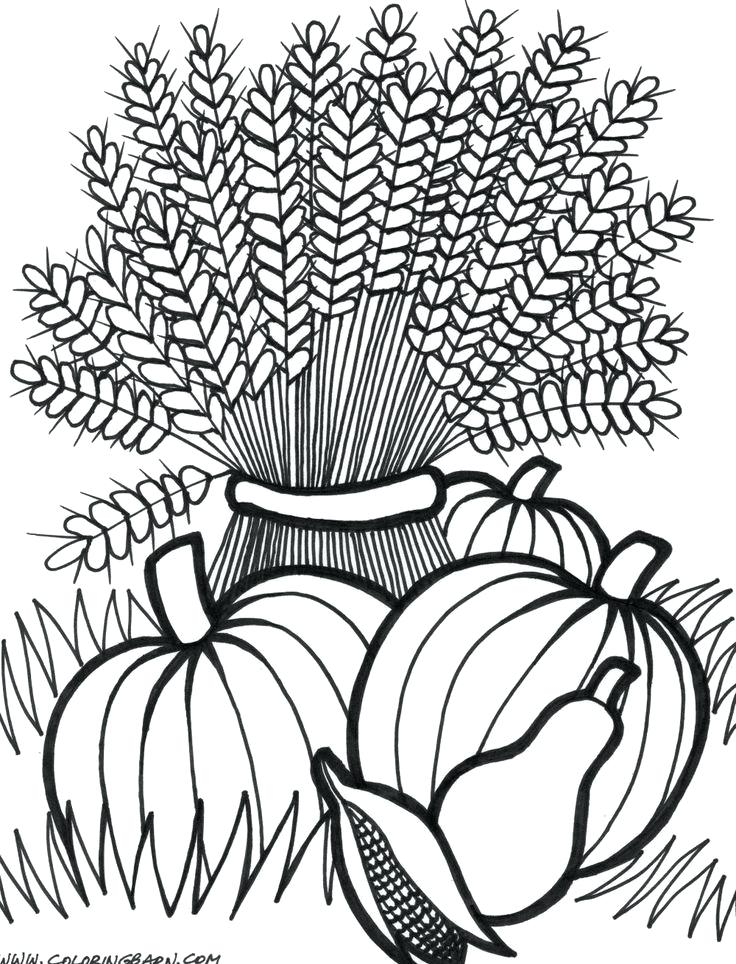 736x964 Fall Pictures To Color Coloring Pages Collection