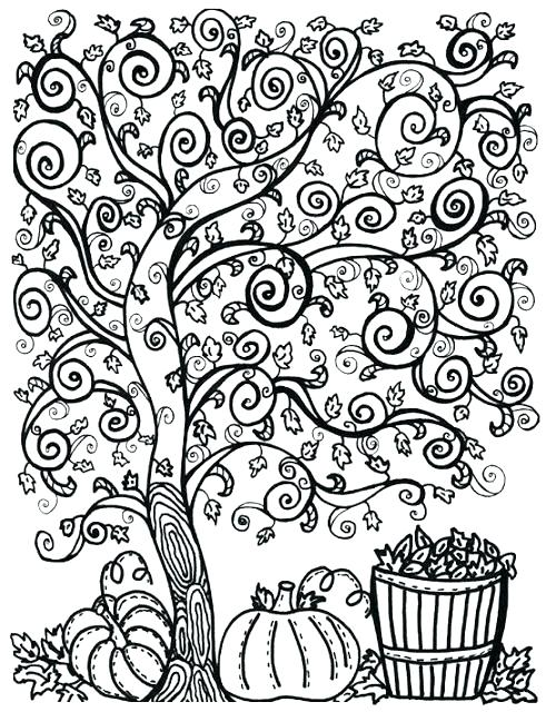 491x640 Autumn Coloring Pages For Adults Items Similar To Dead Tree Autumn