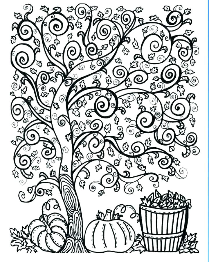 720x900 Beautiful Fall Coloring Pages Free Printable Or Adult Coloring