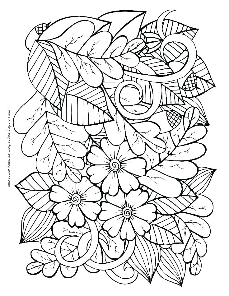 736x952 Autumn Coloring Pages For Adults Autumn Coloring Pages Coloring