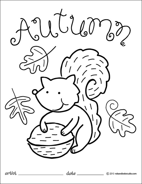 500x647 Fall Coloring Pages
