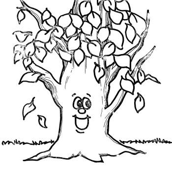 350x350 Fall Coloring Pages For Kids Printable Vitlt Com Regarding