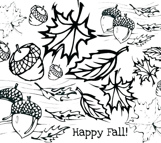 678x600 Autumn Coloring Pages