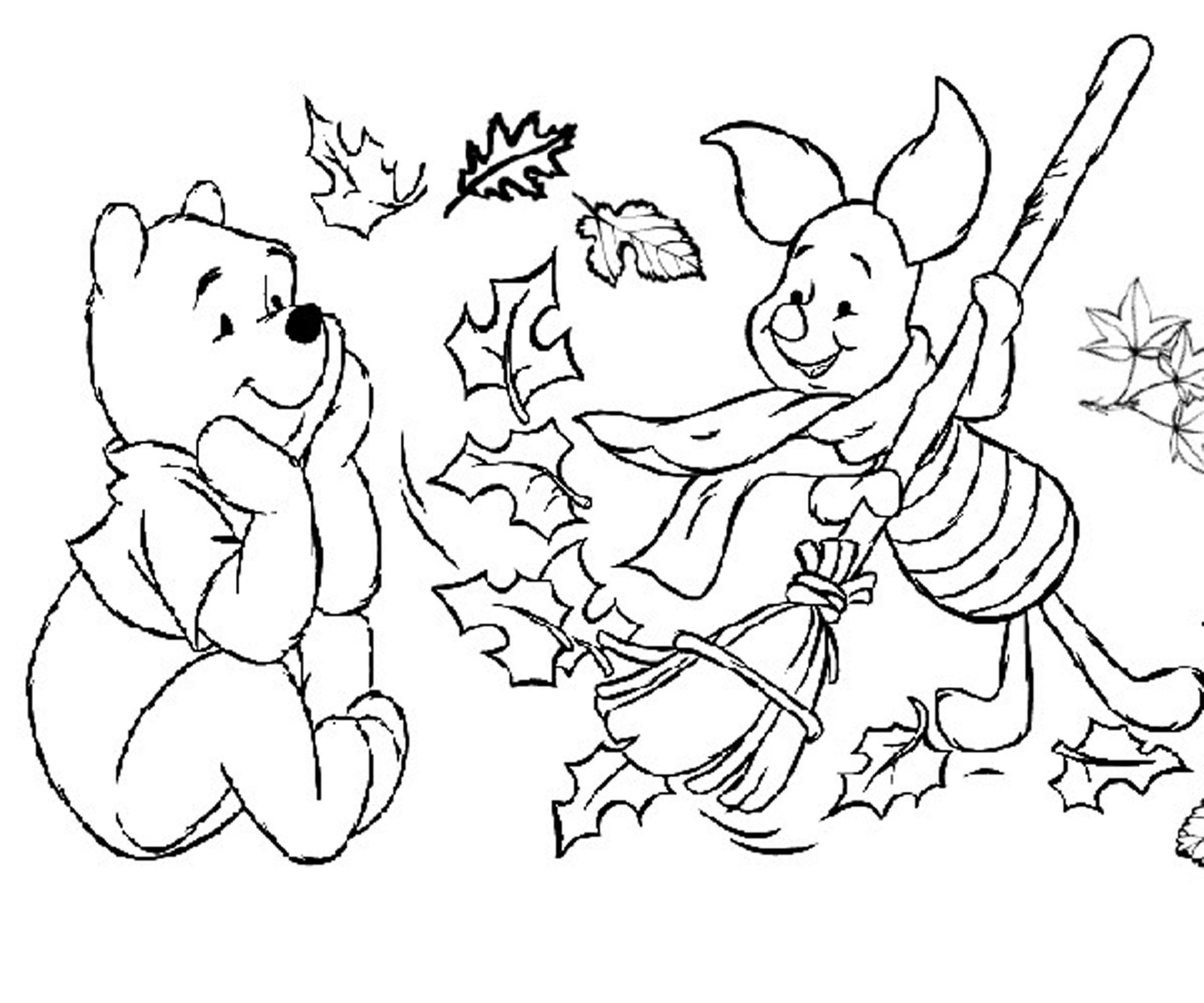 2400x2000 Fall Coloring Pages For Kindergarten Learning Printable