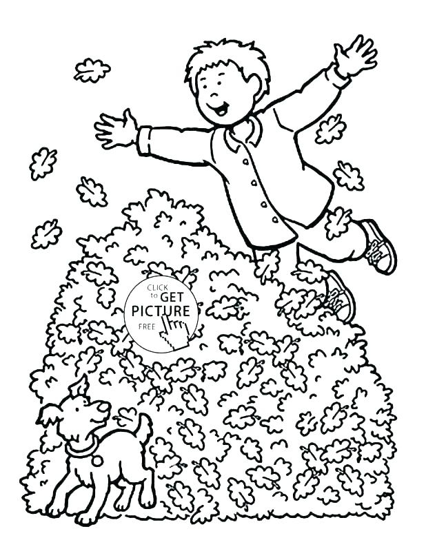 618x813 Autumn Coloring Pages Coloring Page Autumn Tom Clean Up Leaves