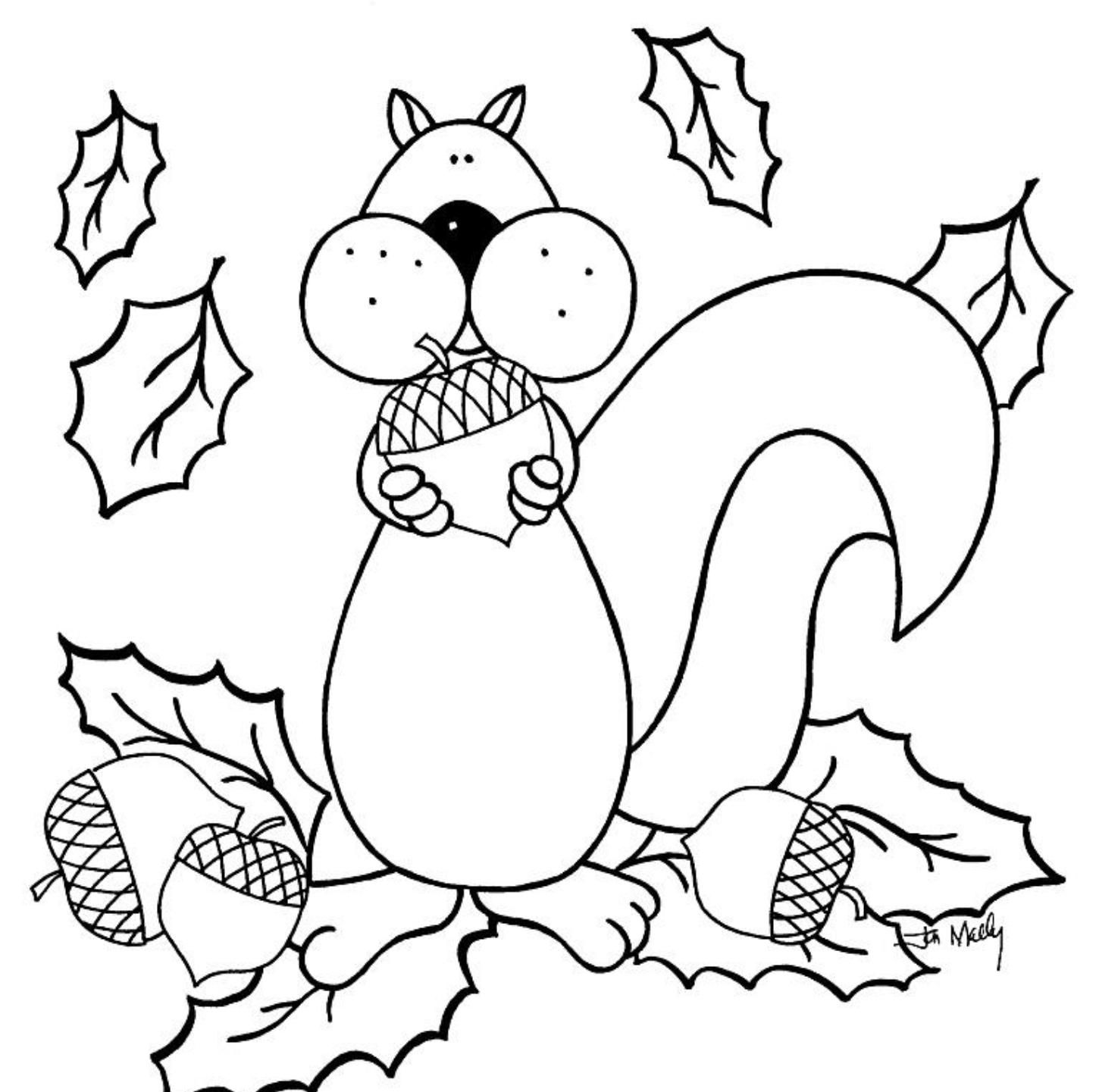 1450x1441 Special Fall Coloring Sheets For Kindergarten