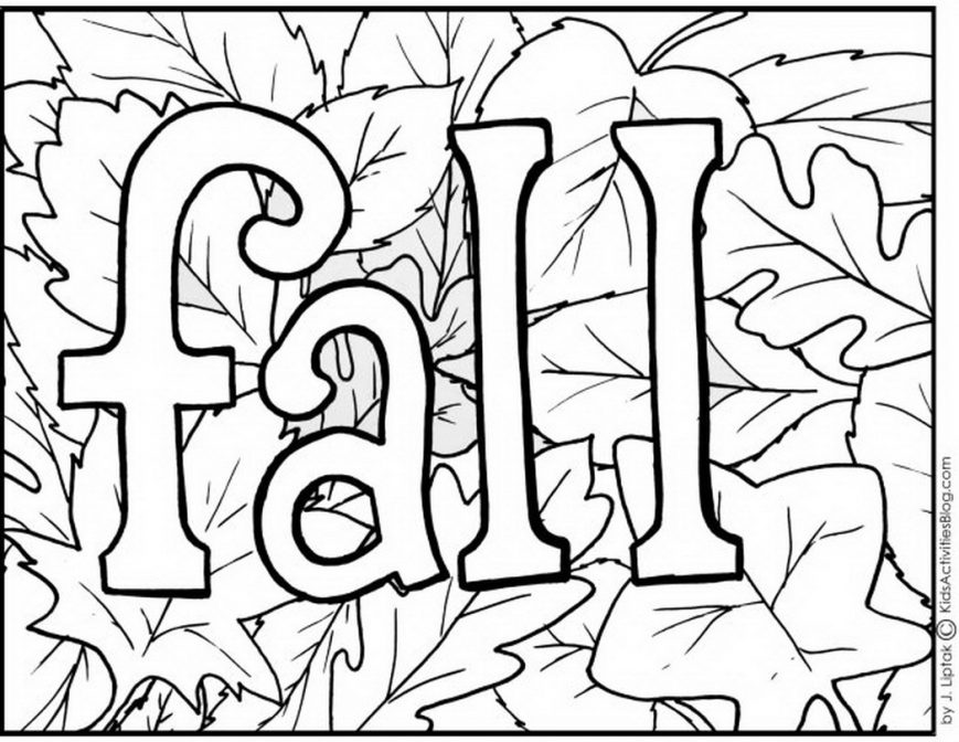 869x672 Free Fall Coloring Pages Images High Definition To Print Sheets