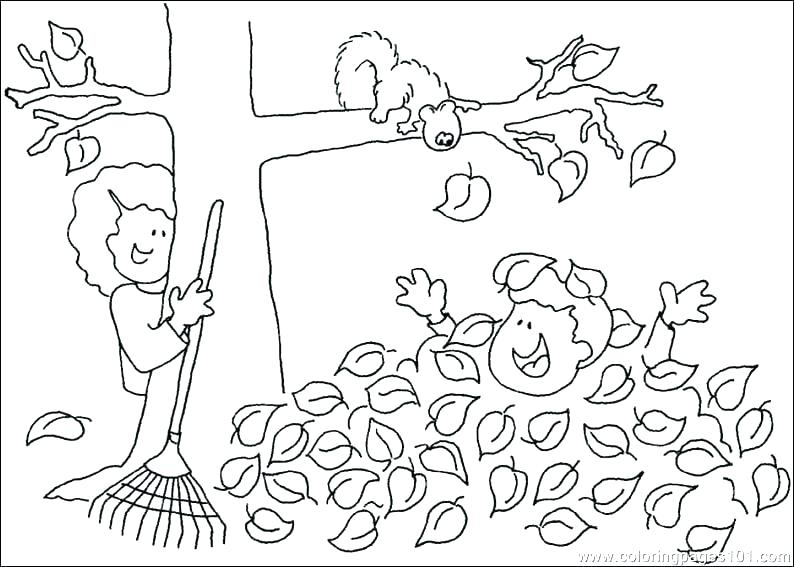 794x567 Kids Fall Coloring Pages Autumn Colouring Sheets Fall Tree Leaf