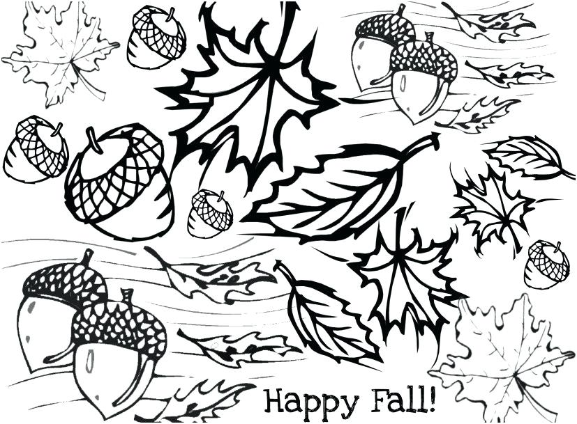 827x609 Autumn Leaf Coloring Pages Fall Leaf Coloring Pages To Print