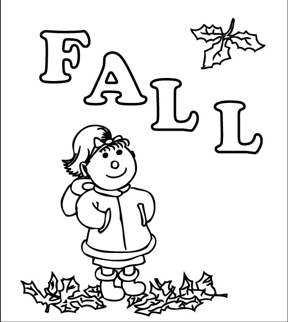 580x648 Fall Coloring Pages Loving Printable