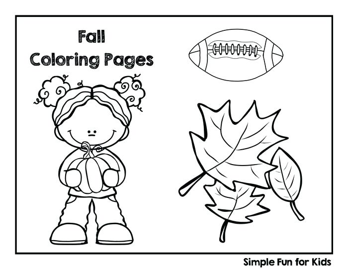 700x541 Fall Coloring Pages For Preschoolers For Kids Fine Motor Fun