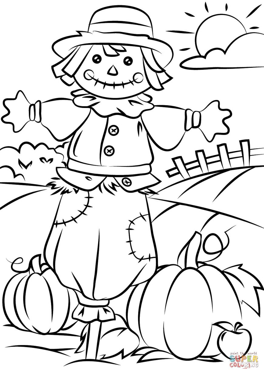 869x1230 Printable Fall Coloring Pages Picture Highest Clarity Free Harvest